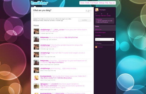 free colorful twitter background