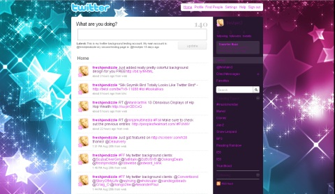free sparkly twitter background girly